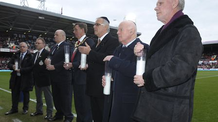 Holocaust Memorial Candle Lighting ceremony before Saturday's Hammers' match