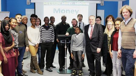 A group of 25 students from the University of East London are training to become money mentors for Y