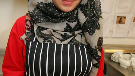 Young chefs are taking part in competition at Redbridge College, Aisha Naeem, age16 from Mayfield Sc