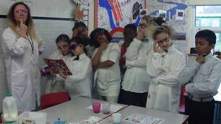 """Mad scientists"" at John Bramston Primary School."