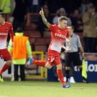 Dean Cox gave Orient the lead seconds after Kevin Lisbie missed a penalty. Pic by Simon O'Connor