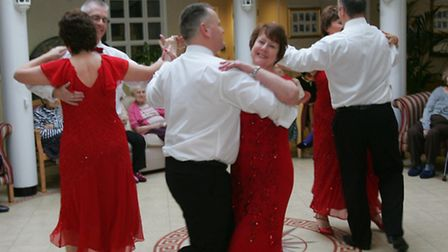 Ballroom dancers in action at the care home