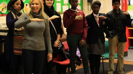 Suzi Digby gives a vocal workshop to the North East London Voices group