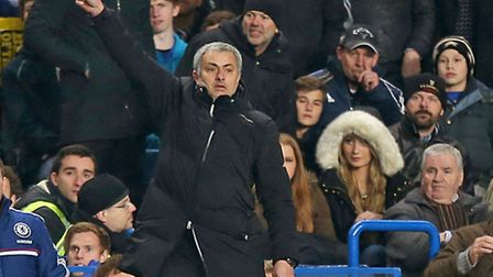 Chelsea manager Jose Mourinho was not a happy man!