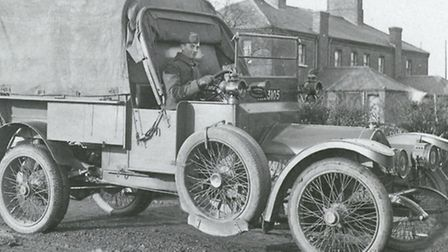 A military vehicle in Ilford. Picture: Taken from A Century of Ilford by Brian Evans