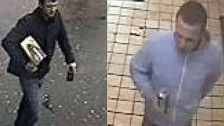 People want to speak to these men about an attack in Londis, Collier Row, on January 1.