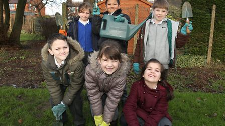 Pupils at Coppice Primary School are ready to go green