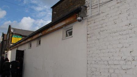 The shed structure in High Road, Ilford, rented out by Mohammed Saleem, where the council'�s housing