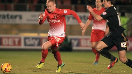 Robbie Simpson playing for Leyton Orient