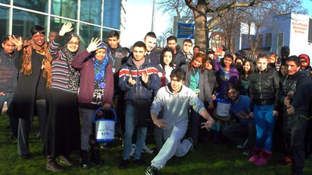 The students from Newham College carried out research on which charity they should support before ba