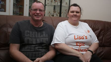 Lisa Mulock is aiming to loose half her body weight. Her and her husband Steven.