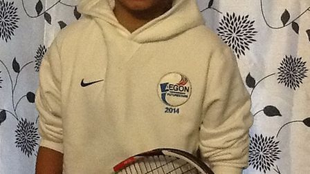 Rittik Anand, 12, is one of England's best young tennis players.