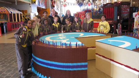 The girl guides from across Newham celebrated the occasion in style