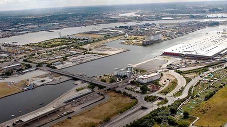 """Propsed site for new """"Silvertown Quays"""" development"""