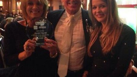 Christine Hunt, Colin Hunt and Leanne Fox at the Great British Kebab awards