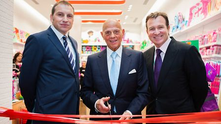 The launch of Smiggle's first European store featuring (from left to right) John Cheston, group gene