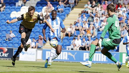 David Mooney gave Orient the lead against former club Colchester. Simon O'Connor