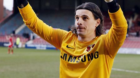 Goalkeeper Eldin Jakupovic salutes the crowd. All pics by Simon O'Connor
