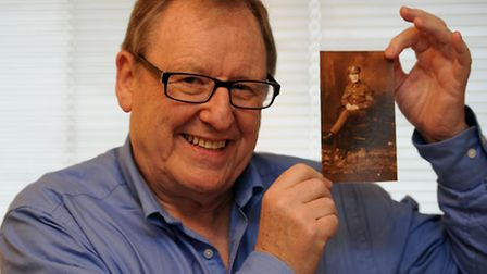 Paul Oliver with a photograph of his father from the First World War