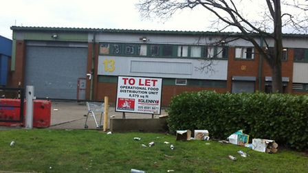 The venue for the illegal rave in Hillcroft Road, Beckton