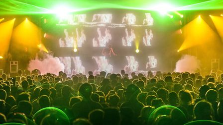 Visitors enjoying the acts at High Definition Festival 2013.