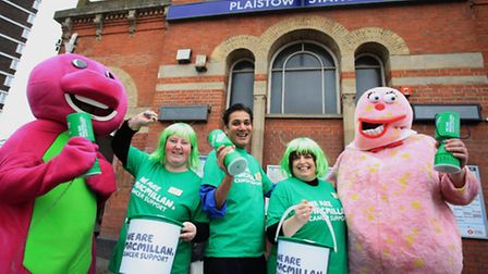 Staff at Plaistow tube station fundraise for charity McMillan Cancer Support.