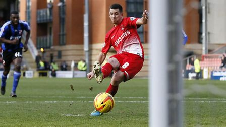 Lloyd James showed great composure to give Orient the lead. Simon O'Connor