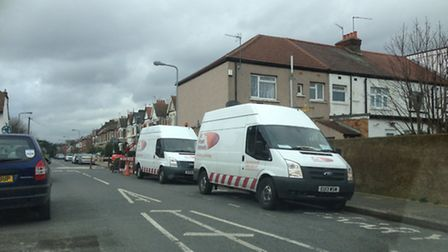 UK Power Networks dealing with the outage in Perth Road, Ilford. Picture: Wasim Hussain