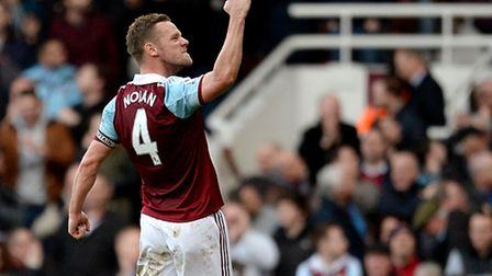 West Ham United's Kevin Nolan celebrates scoring his side's third goal of the game