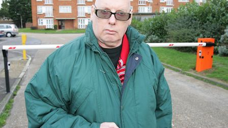 Ian Levene, is unhappy about the installed barriers on the Mount Pleasant Estate