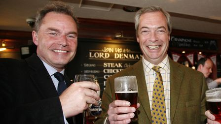 Peter Whittle pictured with Nigel Farage. Photograph: Sandra Rowse.