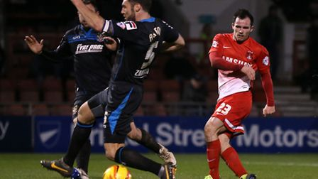 Chris Dagnall was a constant threat for Orient against Stevenage. Rob Newell/TGSPHOTO