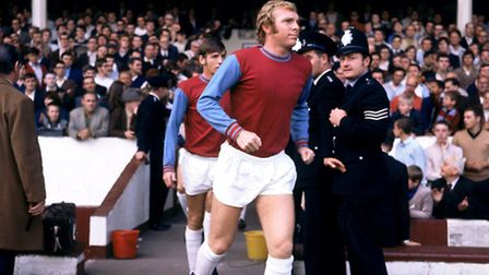 Peter Sharp was lucky enough to see West Ham United captain Bobby Moore in action. The legend is pic