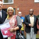 Iain Duncan Smith met with residents at Chartwell Court last year to address the matters of the anti