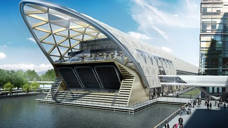 What Canary Wharf station will look like when completed