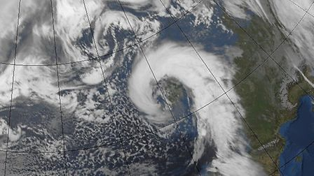 A satellite image taken at 11am on February 12 2014. Picture: Met Office