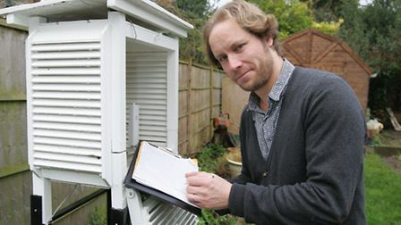 """Scott Whitehead, otherwise known as the """"Wanstead weatherman"""" has a weather station in his back gard"""