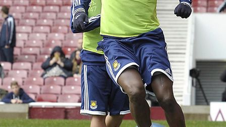 Guy Demel in action at West Ham's open training session at Upton Park (pic: whufc)