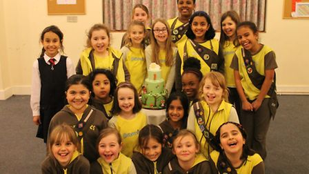 The 14th Woodford Brownies celebrated the group's first birthday in January.