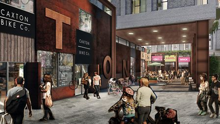 An artist's impression of what Caxton Street, Canning Town will look like