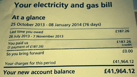 EDF said the bill for almost £42,000 was a mistake.