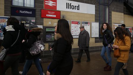 Commuters at Ilford station