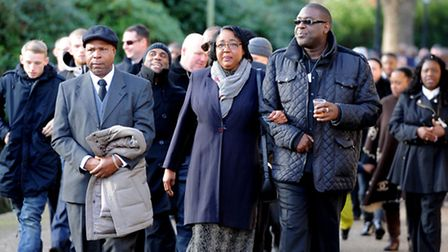 Mourners arrive at City of London Cemetry and Crematorium. Photo credit: David Mirzoeff