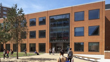 The university's library in Stratford has been shorlisted for an award that recognises buildings tha