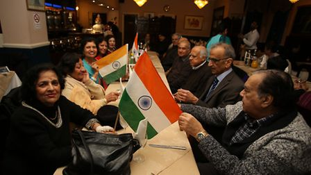 Celebrations of Indian Independence at Masala Restuarant in Ilford.