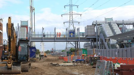 Site of the new Custom House station (pic: Monica Wells)