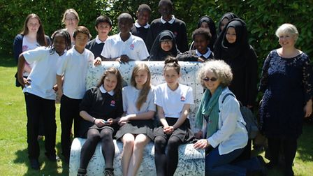 The students from Eastlea Community School visited Cambridge as part of their research into the book