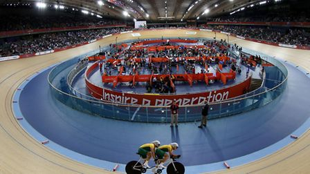 The VeloPark track circuit during the Games. London. Photo: David Davies/PA