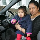 Bhavna Bhalsod with baby Leah Tara gave chase after witnessing a hit and run accident