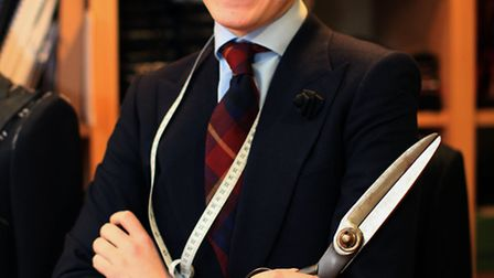 Former Newham College student Francis Paley works as a tailor at Saville Row's shop Chittleborough a